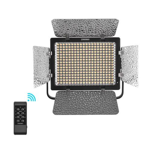 YONGNUO YN320 Profesional en la cámara bicolor Color regulable Luz de vídeo LED APP Control 3200K / 5500K CRI95 + con Soporte de tipo U Soporte + 12V Adaptador de corriente 2A para Canon Nikon Sony DSLR Cámaras