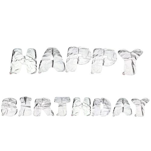 Алюминиевая фольга, сияющая с днем рождения Воздушные шары 13 писем + самолеты 100 клеевых точек Двусторонняя клейкая лента