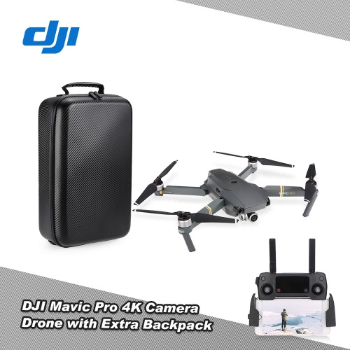 DJI Mavic Pro Foldable 4K Camera Drone FPV RC Quadcopter com extra Hardshell Carbon Backpack