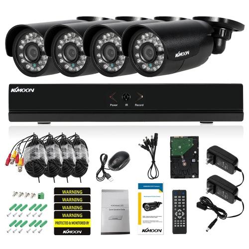 KKmoon® 4CH Kanal Volles AHD 1080N / 720P Sicherheitssystem mit 1TB HDD