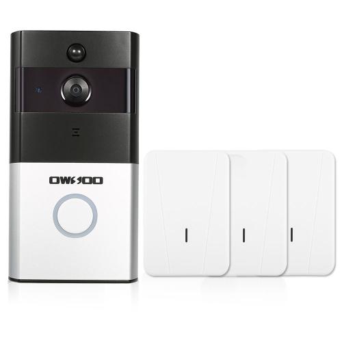 1 * OWSOO 720 P WiFi Visuelle Gegensprechanlage Türsprechanlage + 3 * Wireless Türklingel Chime