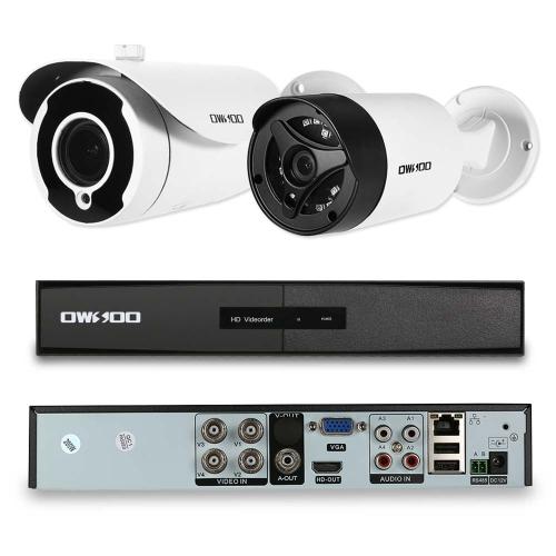 OWSOO 4CH AHD 1080P 2.8-12mm Auto-focus Camera System