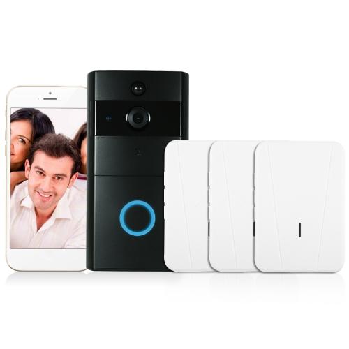 1*720P WiFi Visual Intercom Door Phone+3*Wireless Doorbell Chime
