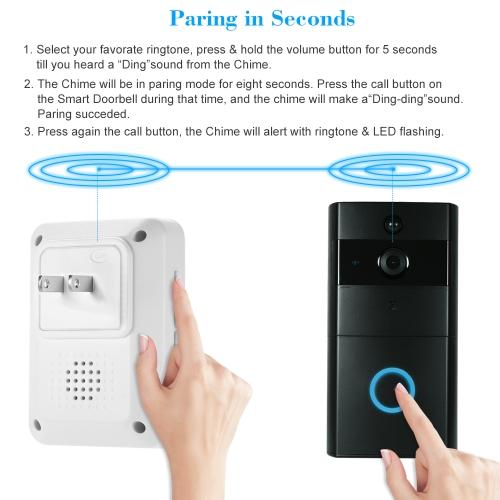 1*720P WiFi Visual Intercom Door Phone+3*Wireless Doorbell Chime фото