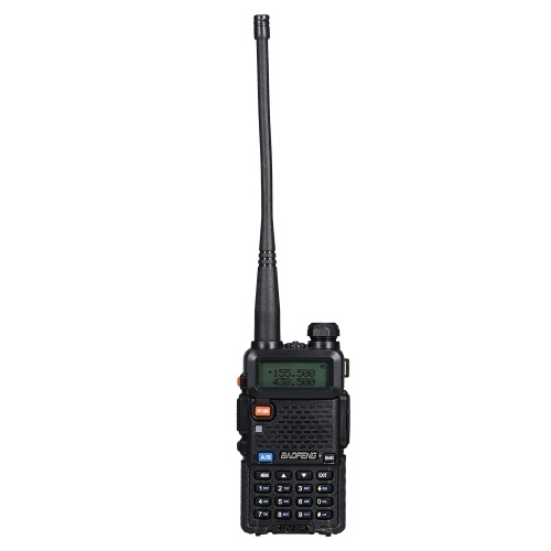 BAOFENG BF-UV5R FM Transceiver Dual Band Handheld Transceiver 128CH Amateur Portable Radio Long Standby Black US Plug