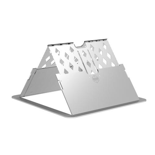 Ультратонкая подставка для ноутбука Настольная складная 6-уровневая регулируемая подставка для ноутбука Металлическая портативная вентилируемая охлаждающая подставка для ноутбука