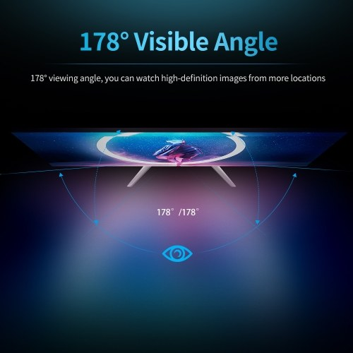 23.8 inch Slim Monitor HD 1080P IPS Screen 1920*1080 Resolution 178° Viewing Angle Low Blue Light Eye-caring Monitor US Plug