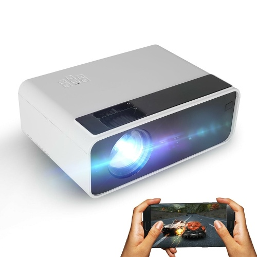 W13 LED Projector Support 1080P with Android 6.0 System Multiple Ports for Office Home Theater White US Plug (Android Version)