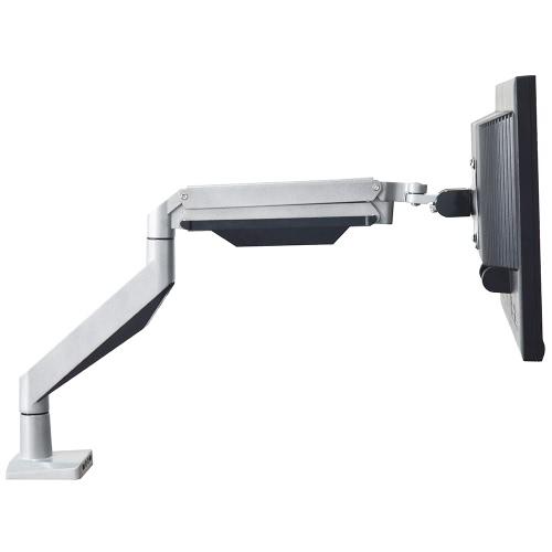 Full Motion Tilt Swivel Gas Spring Single Adjustable Arm LCD LED Computer Monitor Desk Holder Bracket Stand Mount with USB 3.5mm Ports for 10