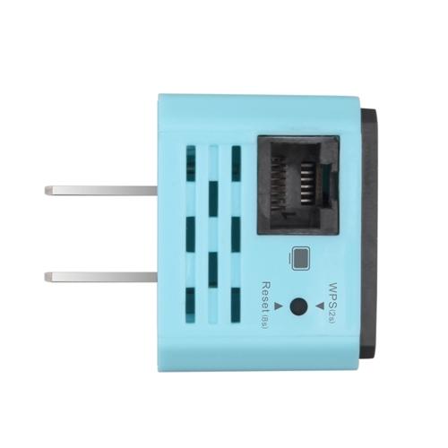300M беспроводной репитер WiFi 802.11N Mini AP Signal Amplifier Range Расширитель Сигнал Booster WiFi Signal Range Extender US Plug Light Blue