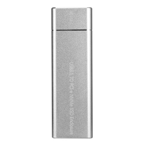 USB3.1 Typ C bis M.2 M-Schlüssel NVMe SSD-Box Gehäuse für Solid-State-Laufwerk Gehäuse für 10 Gbps-Hochgeschwindigkeits-Festplattenlaufwerk