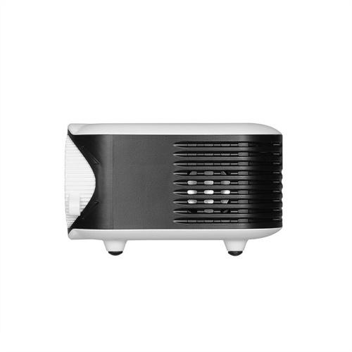 Мини Портативный проектор 1080P ЖК-дисплей 50 000 часов Лампа Life Life Домашний кинотеатр Видеопроектор Легкий и мощный блок питания для ТВ-бокса / XBOX / TF-карты / U диска (белый) США Plug