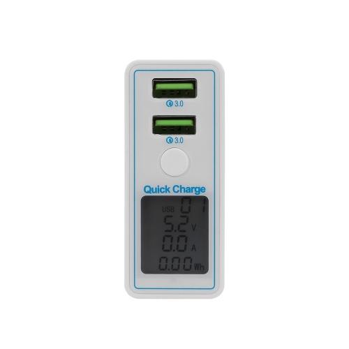 Schnellladung 2 Anschlüsse USB Handy Ladekopf Digitalanzeige Intelligent Universal Double Holes QC3.0 Schnellladung US-Stecker