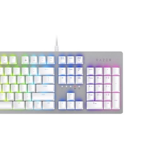 Razer Huntsman Механическая игровая клавиатура Оптомеханический переключатель 104 клавиши RGB с подсветкой Проводная клавиатура Silver фото
