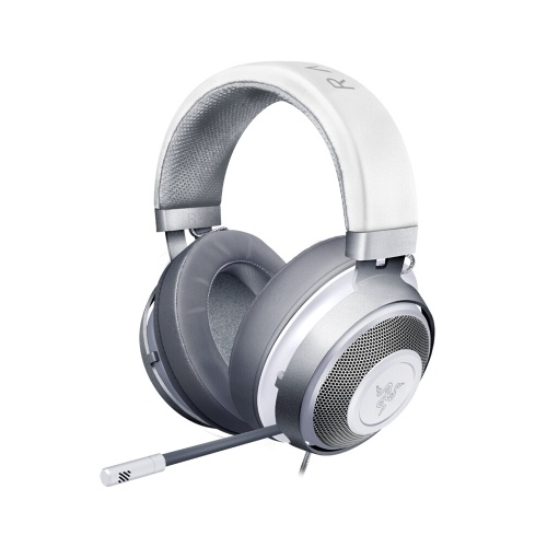 Razer Kraken Gaming Headset Earphone Headphone 2019 Cooling-Gel Layer Retractable Noise Cancelling Microphone for PC, Mac, Xbox, PS4, Nintendo Switch (Silver)