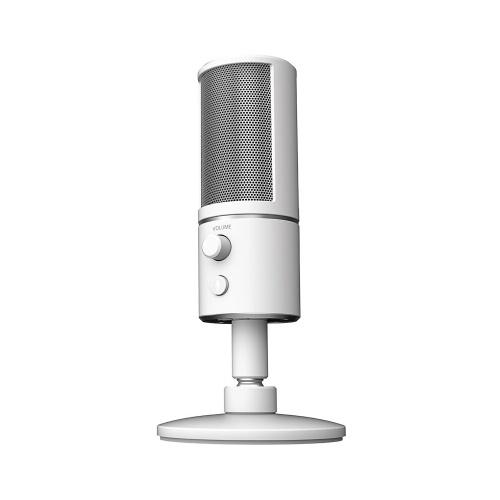 Razer Seiren X Потоковый микрофон USB Встроенный амортизатор Суперкардиодный шаблон для захвата 25 мм Конденсаторные капсулы USB Plug & Play Silver