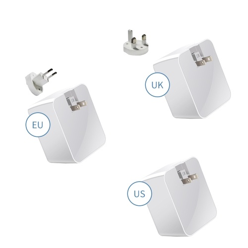 WLX-A9T Smart Multi-port USB Fast Charger Portable Quick Charge Multiple Protection Digital Display QC 3.0 For Mobile Phones Laptops US Plug