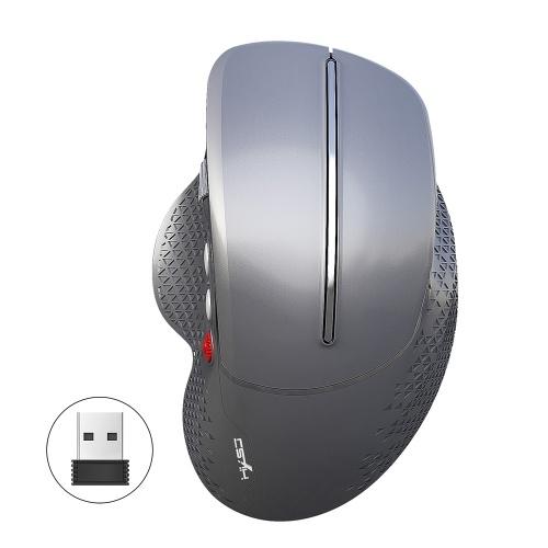 HXSJ T32 2.4GHz Vertical Wireless Mute Mouse 6 Keys