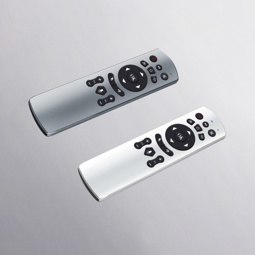 Air Mouse Voice Remote Control 2.4G Wireless Aluminum Alloy Air Mouse Remote Control TK808 Silver
