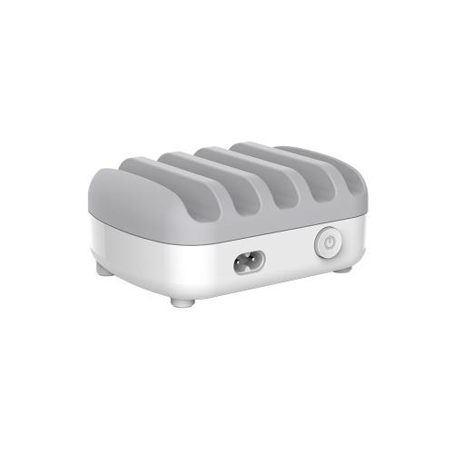 ORICO DUK-5P 5-портовый USB-порт зарядного устройства с держателем 40W 5V2.4A * 5 USB зарядка для мобильных телефонов Ноутбуки Белый штекер США