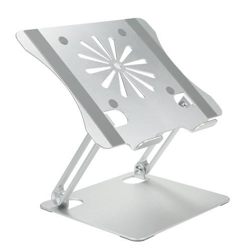 Кронштейн для ноутбука Складной радиатор из алюминиевого сплава Большая несущая способность Портативная опорная база для ноутбука