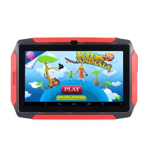 Tablet per bambini da 7 pollici Tablet Android 4.4 OS Apprendimento 1024 * 600 Risoluzione 512 MB + 8 GB Archiviazione Connessione WiFi / BT Spina nera USA