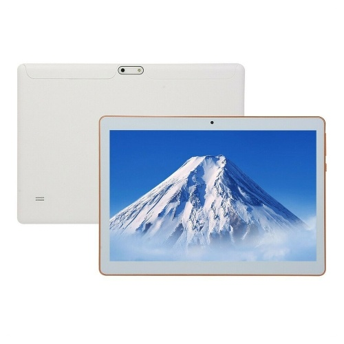 10.1'' Business Tablet with MT6582 Quad-Core Processor 1280*800 Resolution 1GB+16GB Memory 2G/3G Calls ABS Shell White US Plug