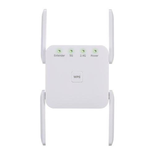 1200 Mbps 2.4G 5G Ripetitore WiFi a doppia frequenza WiFi Extender Ripetitore di segnale wireless Bianco per uso domestico Usa spina americana