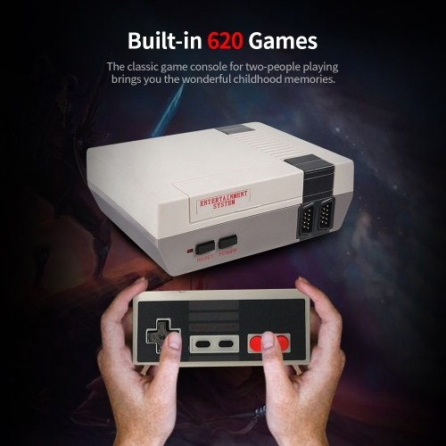 Built-In 620 Games Mini TV Game Console 8 Bit Classic Handheld Gaming Player AV Output Video Game Console Toys Gifts US Plug