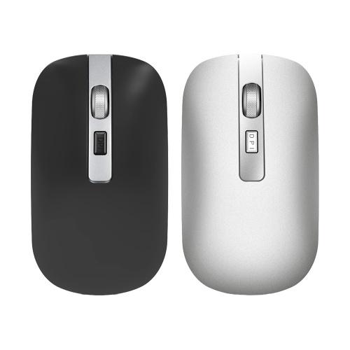 HXSJ M50 Двухрежимная беспроводная мышь 2.4G Беспроводная мышь BT Mouse Mute Офисная мышь с регулируемым DPI для ПК-ноутбука Черный
