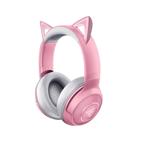 Razer Kraken BT Kitty Gaming Headset BT 5.0 Wireless Headphone 40mm Driver Unit Low Latency Built-in Beamforming Microphone Pink
