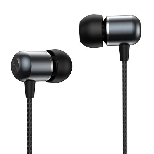 Yoobao 3.5mm Wired Earphone Stereo In-ear Headphone Sports Earbud with HD Noise Cancelling Mic HiFi Sound Quality Tarnish