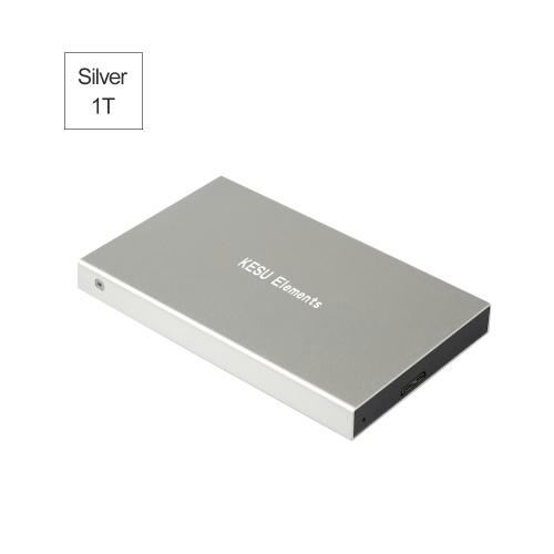 Portable External Hard Drive USB 3.0 120G.160G.250G.320G.500G HDD External HD Hard Disk for PC Silvery&1T