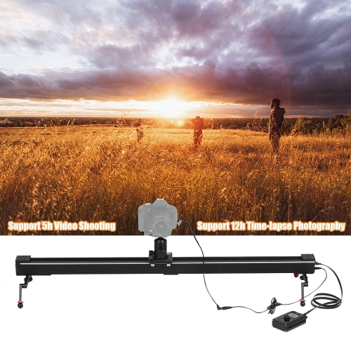 andoer 1m/3.3ft electric control dslr camera slider stabilizer + ball head