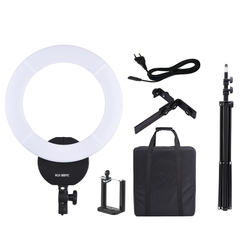 16 Inch LED Video Ring Light Dimmable Fill-in Light Lamp 32W 3000K-5600K with White Filter Carry Bag for Camera Studio Portrait Photography   +  2m / 6.6ft Photo Studio Light Stand with 1/4