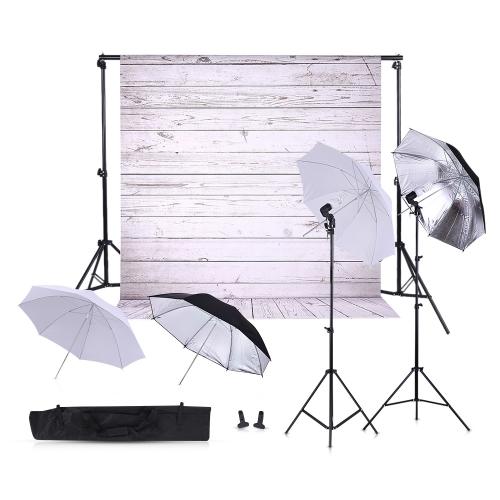 6.6 * 10ft Hintergrund-Beleuchtungs-System 45W 5500K ununterbrochener Beleuchtung-Installationssatz-Regenschirm