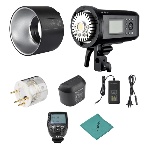 Godox AD600Pro 600Ws TTL GN87 1/8000s HSS Outdoor Flash Strobe Light + 28.8V/2600mAh Rechargeable Lithium Battery + Xpro-F Flash Trigger C-D0629AU