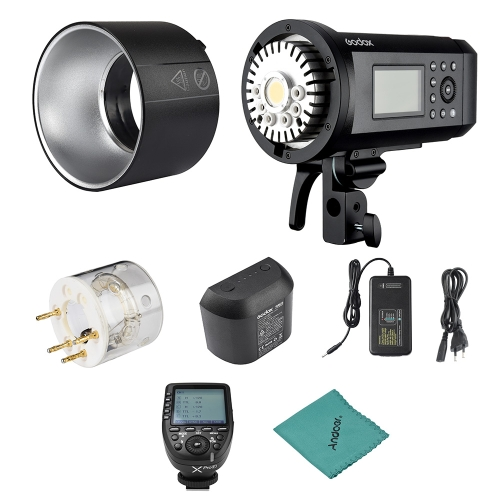 Godox AD600Pro 600Ws TTL GN87 1/8000s HSS Outdoor Flash Strobe Light + 28.8V/2600mAh Rechargeable Lithium Battery + Xpro-F Flash Trigger C-D0629EU