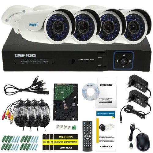 OWSOO 8ch Channel Full 1080N / 720P 1500TVL Sistema de segurança AHD DVR