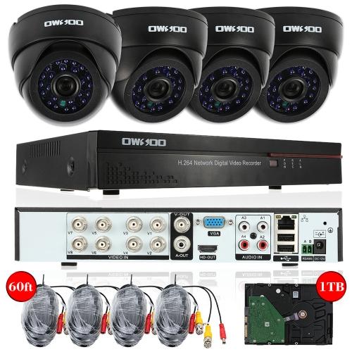 OWSOO 8ch Kanal 800TVL CCTV Überwachung DVR Sicherheitssystem