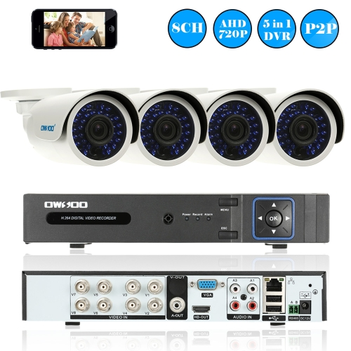 OWSOO 8CH 1080P CCTV Surveillance DVR Security System