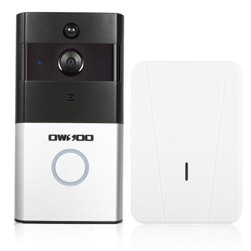 1 * OWSOO 720 P WiFi Visuelle Gegensprechanlage Tür Telefon + 1 * Drahtlose Türklingel Chime