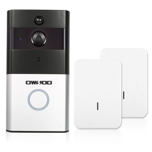 1*OWSOO 720P WiFi Visual Intercom Door Phone+2*Wireless Doorbell Chime