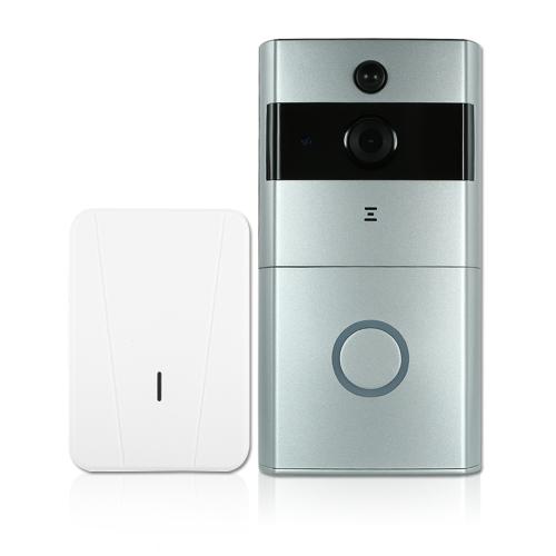 1 * 720P WiFiビジュアルインターホンドアホン+ 1 *ワイヤレスドアベルチャイム