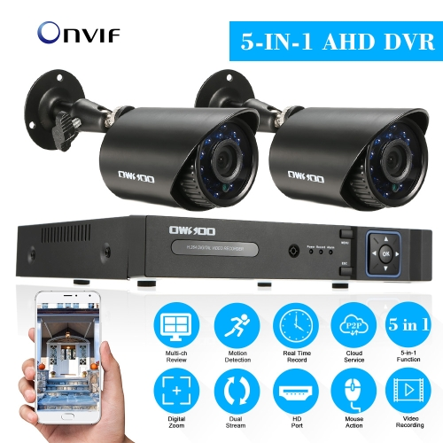 OWSOO 8CH Channel 1080P Hybrid DVR Camera CCTV System