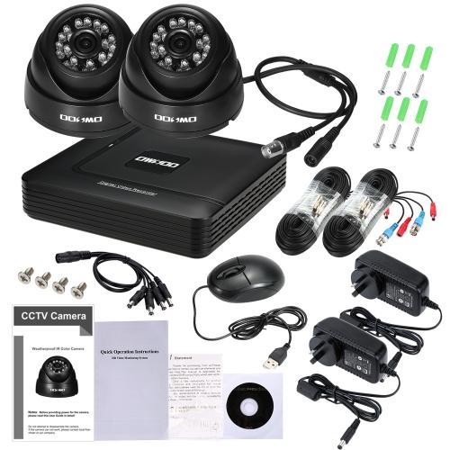 OWSOO 4CH 1080P Hybrid DVR Sistema de Câmera de CCTV