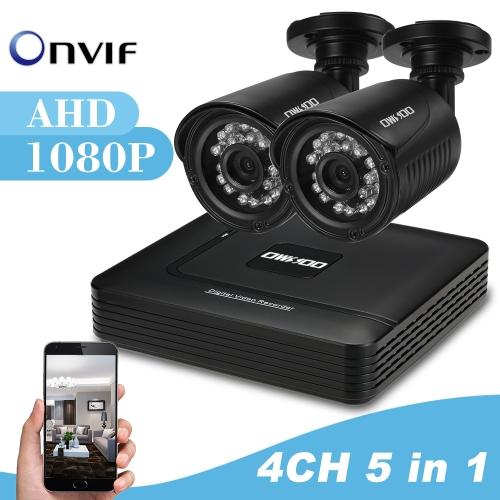 OWSOO 4CH 1080P CCTV Surveillance Security System