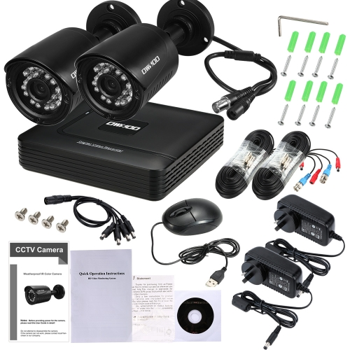 OWSOO 4CH 1080P CCTV Surveillance Security System