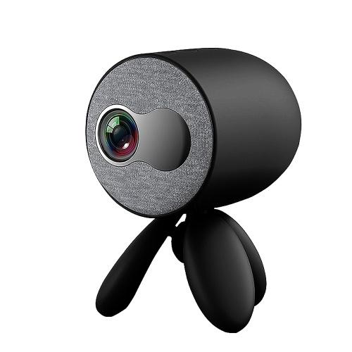 YG220 LED-Projektor Tragbarer HD 1080P LED-Projektor mit eingebautem Lautsprecher Mehrere Anschlüsse für Büro-Heimkino Schwarzer EU-Stecker