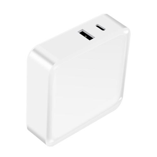 WLX-i8 2-Port USB + Typ C Ladegerät 65W PD + QC3.0 Schnellladegerät Tragbarer Adapter Ladekopf für Tablet / Telefon EU-Stecker